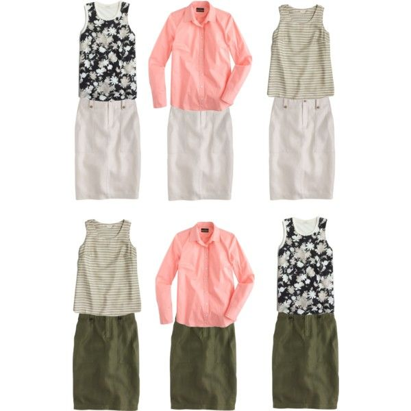 More Linen Cargo Pencil Skirt looks by djenning on Polyvore featuring мода…