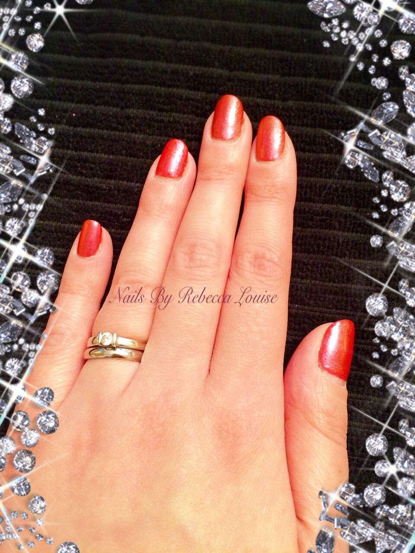 CND Shellac Electric Orange with Rose Notion Additives