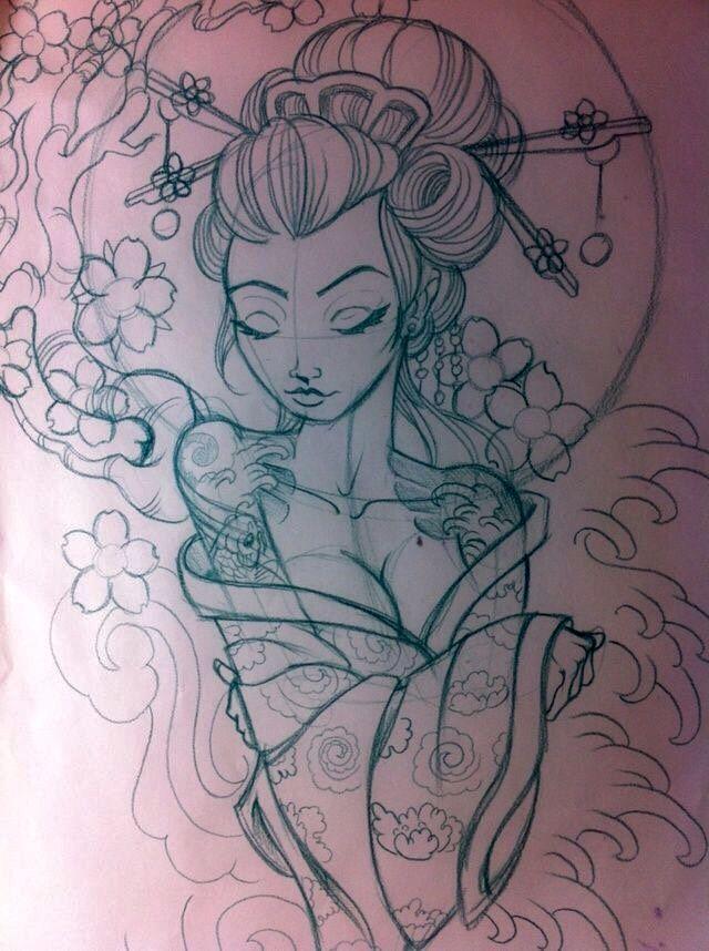 Geisha Tattoo Art Tattoos Tattoo Drawings Tattoo Sketches Girl