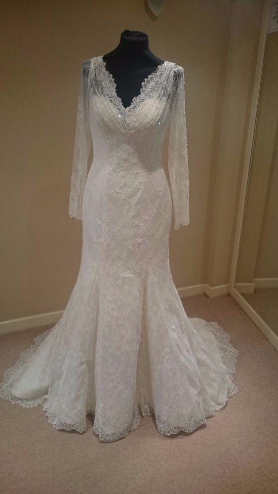 9acd82c5c6a Ian Stuart Stevie size 12 long sleeve lace wedding dress