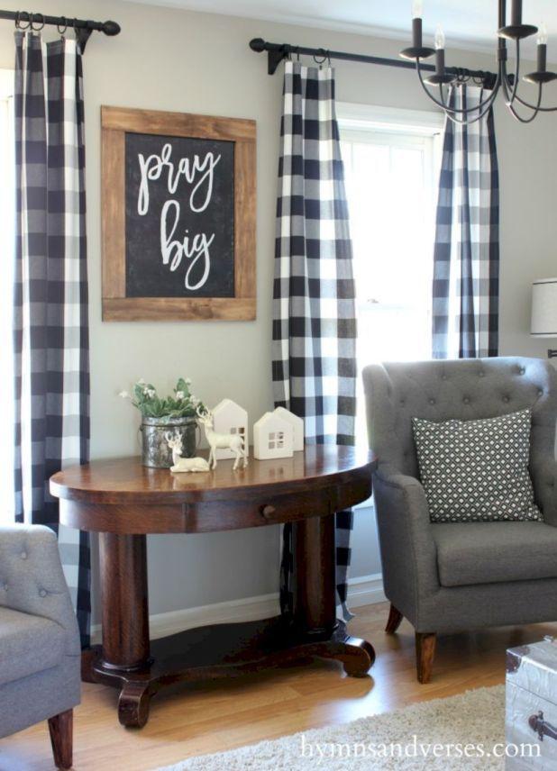 62 Rustic Living Room Curtains Design Ideas - ROUNDECOR, #CURTAINS #Design #Ideas #Living #Room