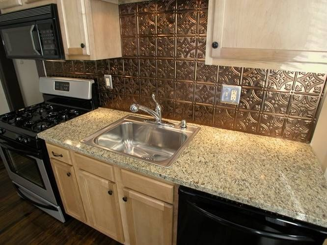 Pressed Tin Backsplash  Google Search  Pressed Tin  Pinterest Cool Tin Backsplash For Kitchen Inspiration Design