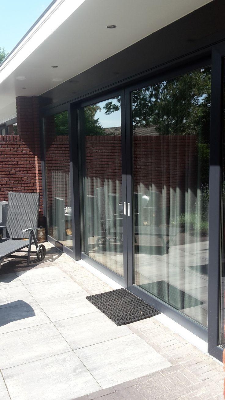 plastic sliding door frame, color anthracite 7016, 6500 …-…
