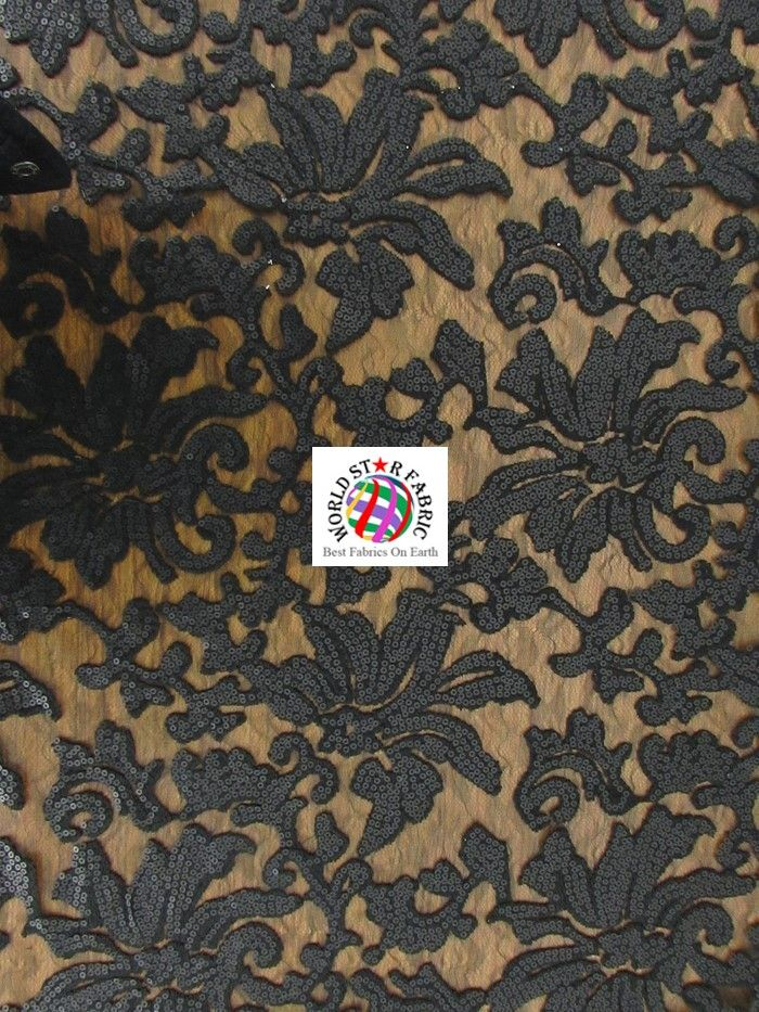 BY THE YARD Royal BEYONCE FLORAL FASHION DRESS GOWNS SEQUINS LACE FABRIC