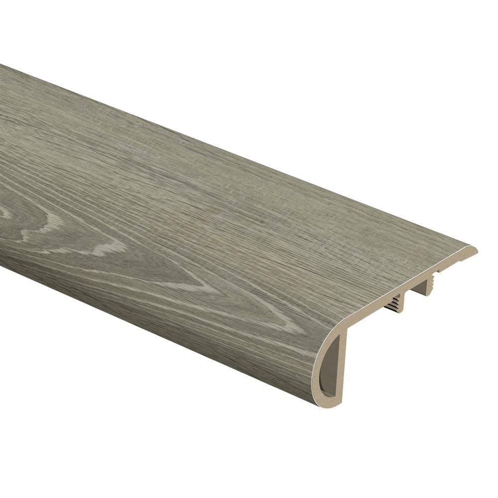 Zamma Brushed Oak Taupe 3 4 In Thick X 2 1 8 In Wide X 94 In Length Vinyl Stair Nose Molding 015543738 In 2020 Stair Nosing Vinyl Stair Nosing Vinyl Plank Flooring