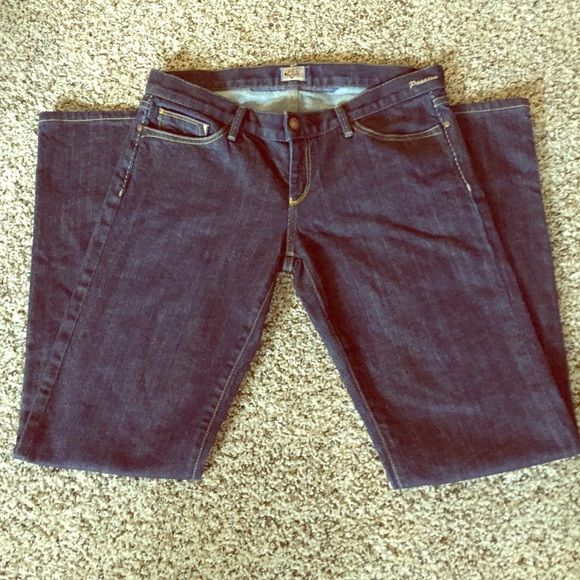 Goldsign Jeans Dark wash boot cut Goldsign Passion jeans; waist 28 inches, rise 7 inches and length 38 inches. Great condition. Goldsign Jeans