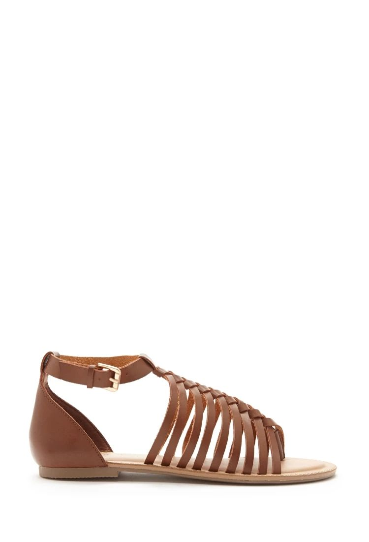 1b868eeab561 Strappy Faux Leather Sandals