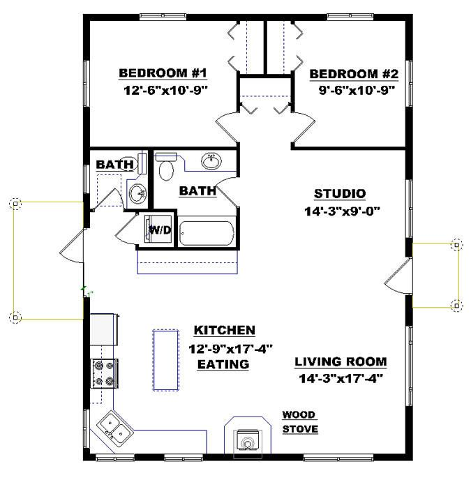 bungalow cabin plan perfect get away home description 21237 | 1d2ac7ef2882f820682026249cde016a