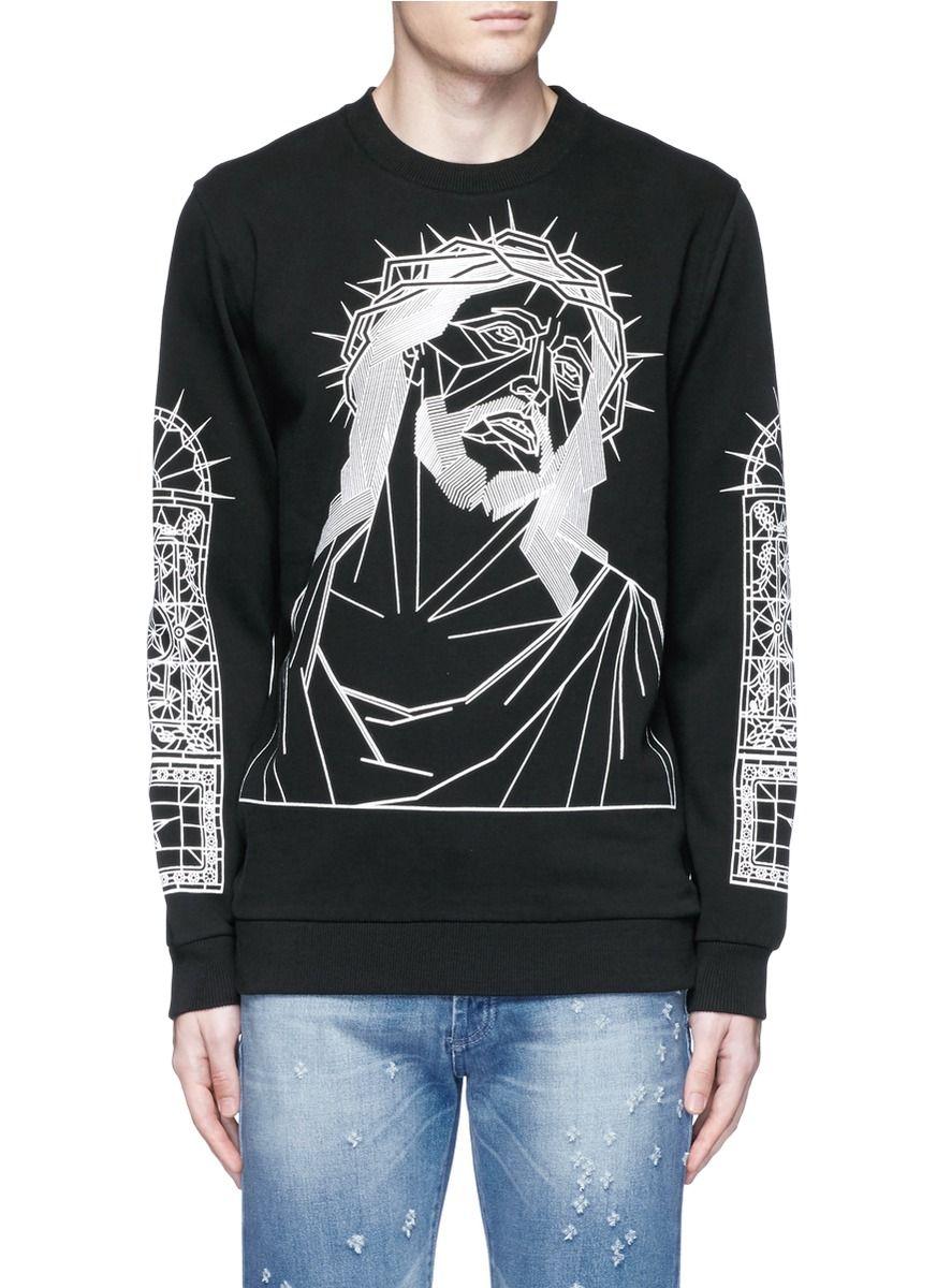 Abstract Givenchy givenchy cloth Jesus Print Sweatshirt UBwqdf
