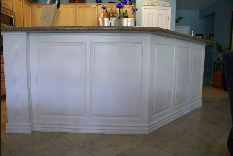 Great Diy Moulding Trim On Kitchen Island Diy Molding Wainscoting New Homes