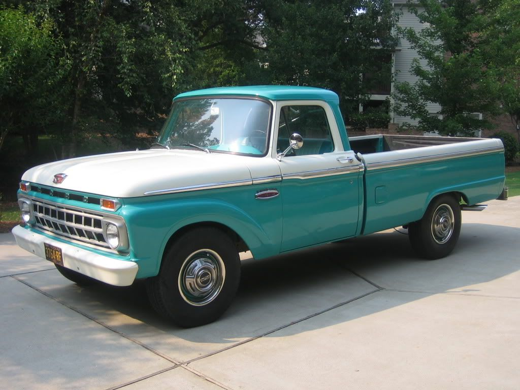 02da18b84 1965 Ford Truck Carribean Turquoise and Wimbleton White. mines a 66 but  paint code says this was the original color bm