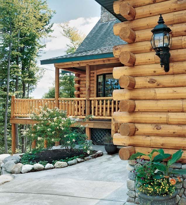 log home pics and ideas | Roofline | Log home ideas