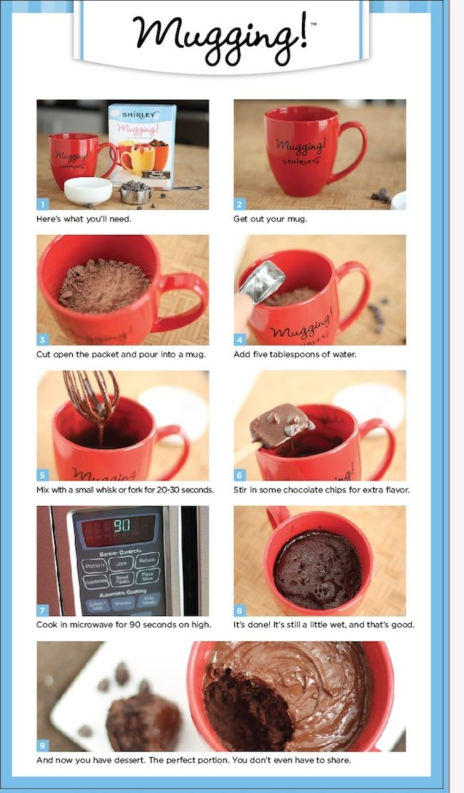 Mugging recipes and mixes that can be made in a mug Comes in a