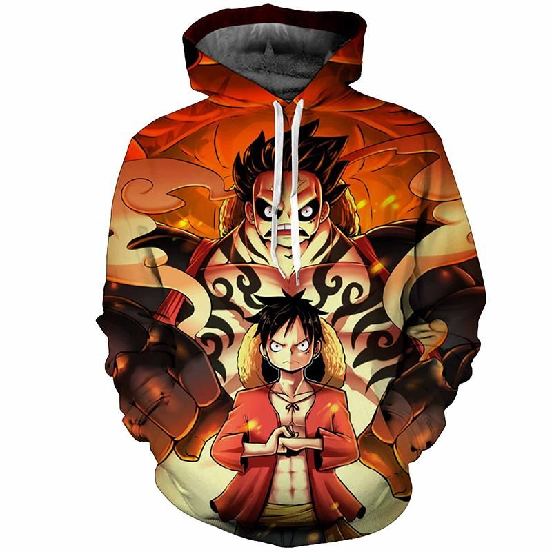 One Piece Monkey D Luffy Fashion Hoodies Anime Cotton Hoodie Sweatshirt Harajuku Hip Hop Brand Tracksuit Coat Moleton Masculino Men's Clothing