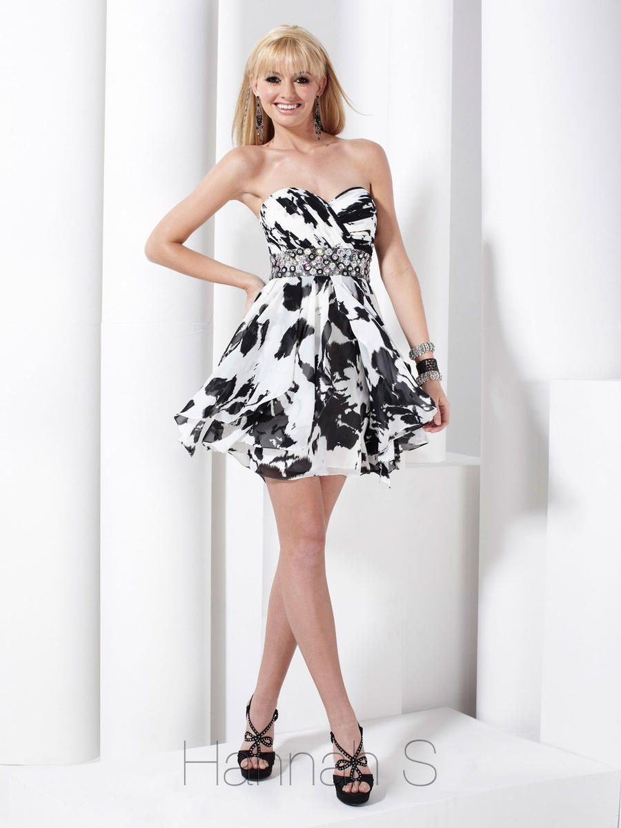 Spectacular black and white party dresses ideas black and white