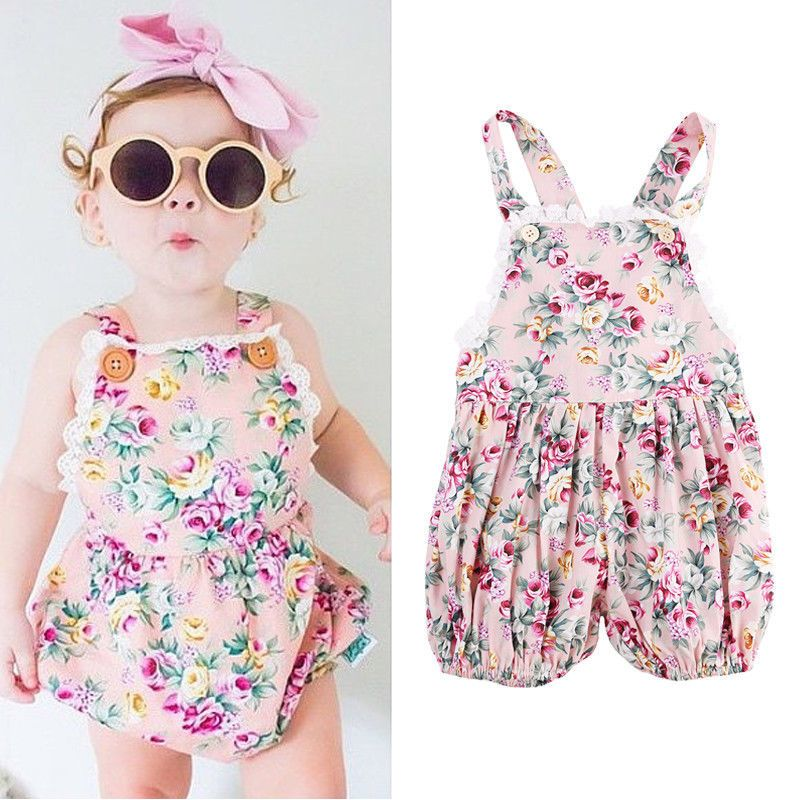 4f243fc44154 NEW ARRIVAL Infant Kids Rompers Toddler Baby Girl Clothing Strap Flower  Casual Cute Backless Jumper Romper Jumpsuit Summer 2016  Affiliate