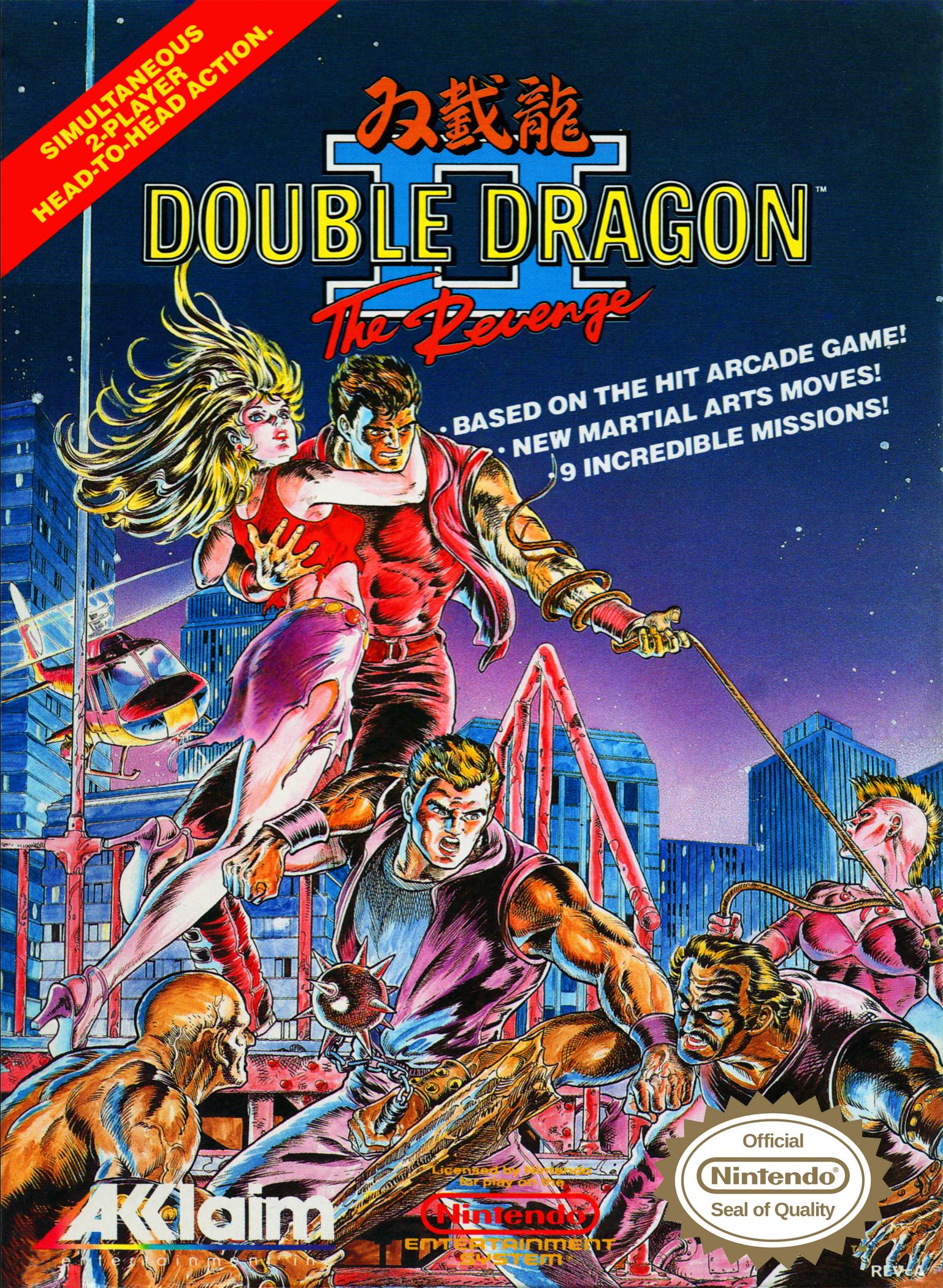 Double Dragon Ii The Revenge Nes 1990 Retro Video Games Nes Games Nintendo Nes Games