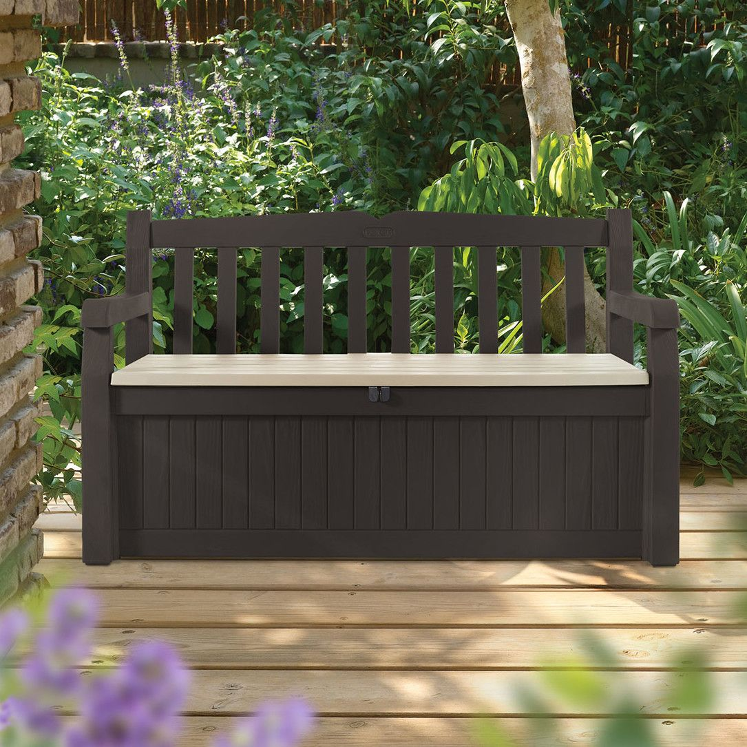 Tremendous Eden Plastic Storage Bench Bench Patio Storage Patio Evergreenethics Interior Chair Design Evergreenethicsorg