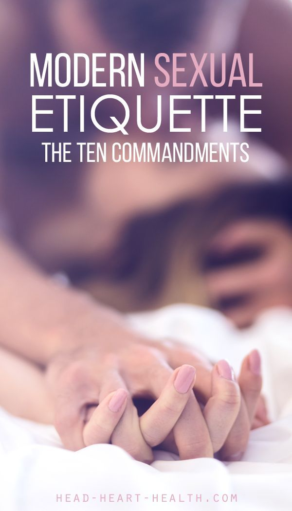 Modern Sexual Etiquette • The Ten Commandments