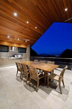 Wood Soffit No Exposed Structure Modern Patio Design