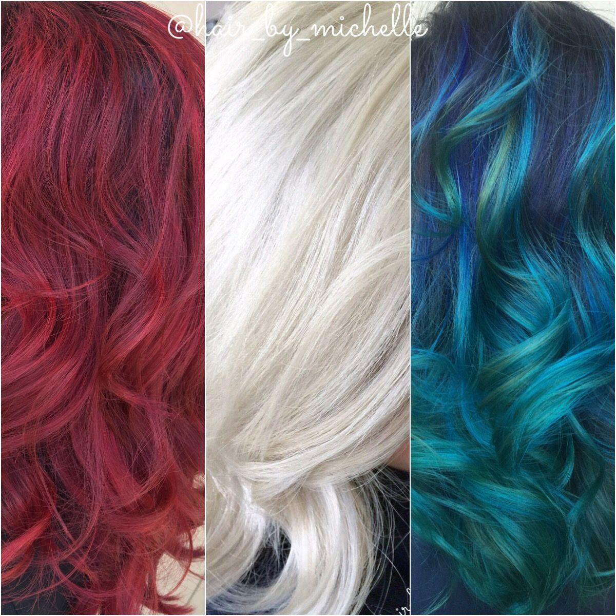 Red White And Blue Hair Red Hair White Hair Blue Hair Hair