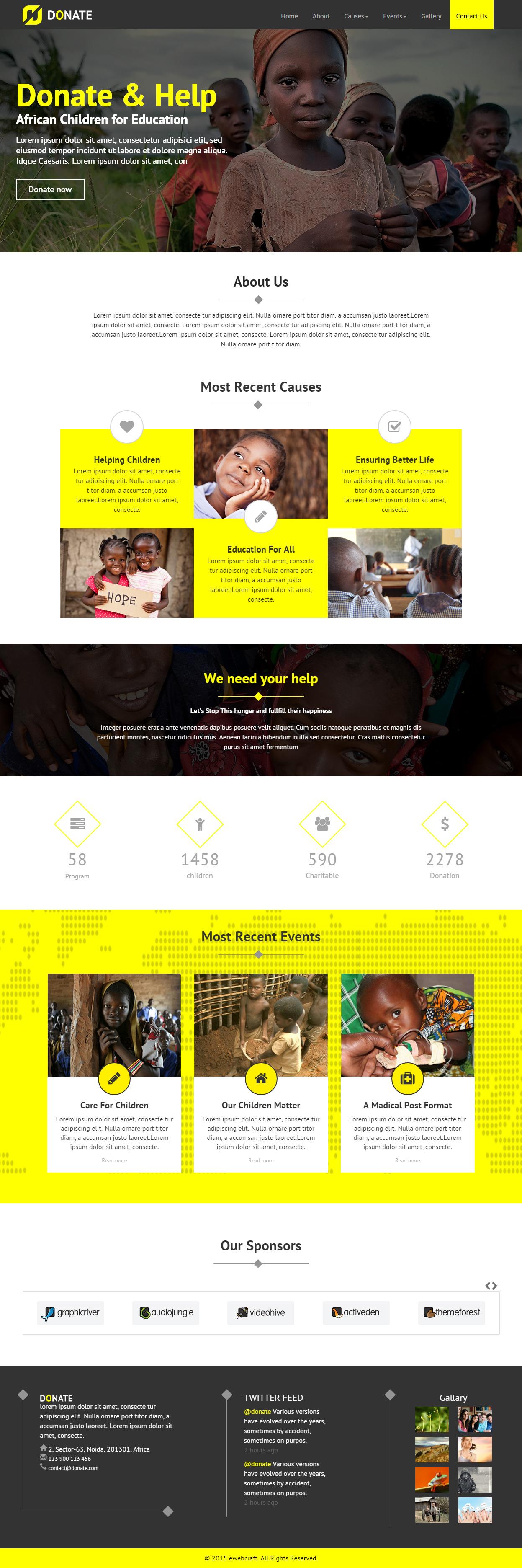 Donate - Premium Responsive Multipurpose Nonprofit HTML5 Template ...