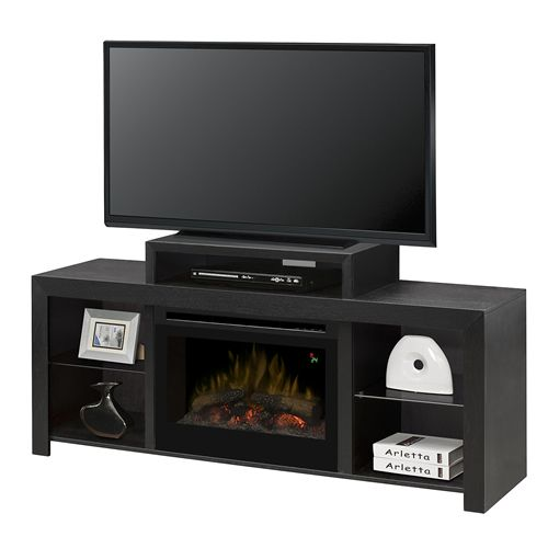 dimplex beasley electric fireplace media console with log insert rh pinterest fr