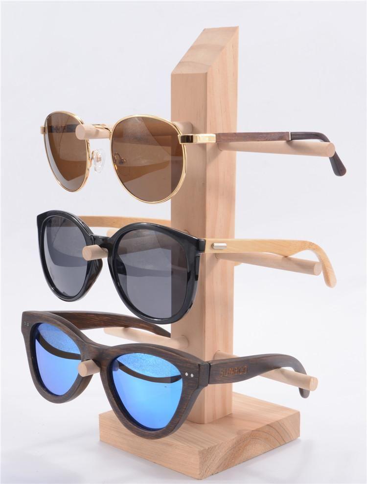 Eyeglasses Frame Holder : Eyeglass display Sunglasses Holder Rack Storage Shelf Wood ...