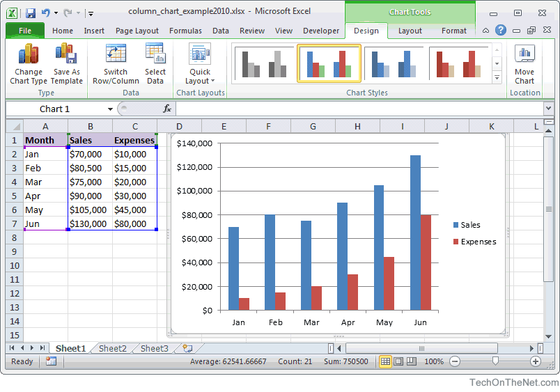 Create A Simple Bar Chart In Excel 2010 Excel Spreadsheets Create A Chart Microsoft Excel