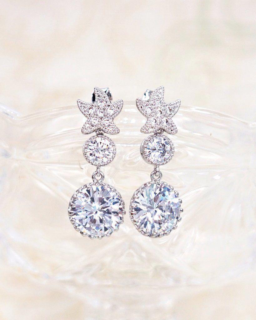 Starfish Earrings Beach Bridal Wedding Jewelry Bridesmaid Shower Gifts Idea For Her Glitzandlove