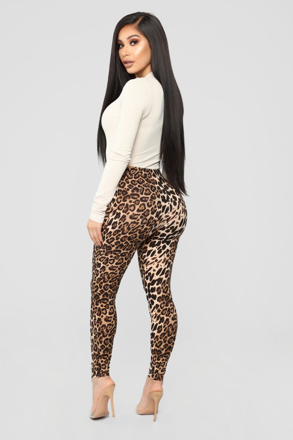 f9dda26e50b8e3 Available In Leopard High Waisted Leggings Leopard Print 95% Polyester 5%  Spandex Made In USA