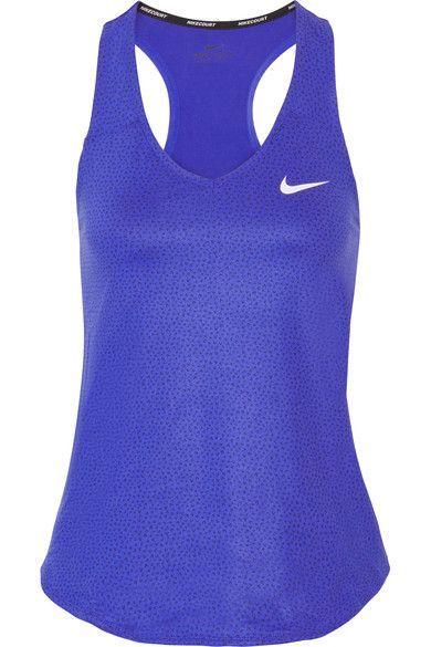 nike royal blue tennis tank