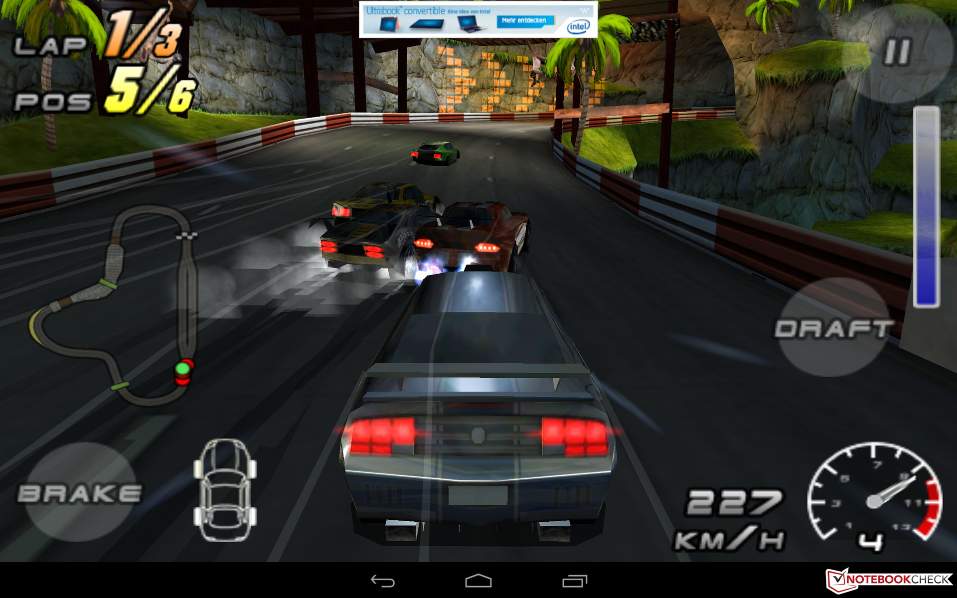 Traditional (and oversimplified) racing game interface which uses ...