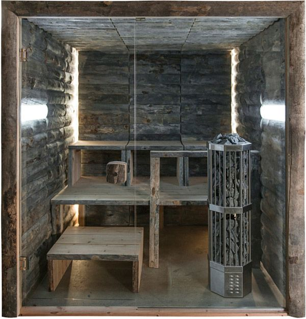 Finnish sauna made of deadwood