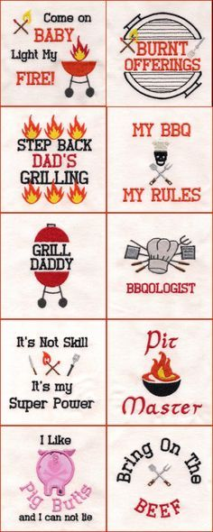 Dads Bbq Embroidery Machine Design Details Ckc Embroidery Designs