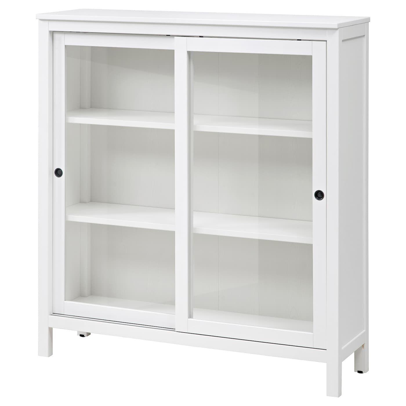 Hemnes Vitrine Weiss Gebeizt Ikea Glasschrankturen Vitrine