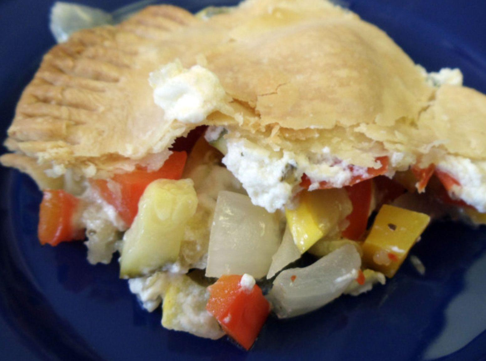 Roasted Vegetable & Boursin Pie