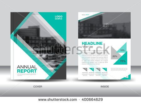 Green Annual Report Template Brochure Flyer Cover Design Vector