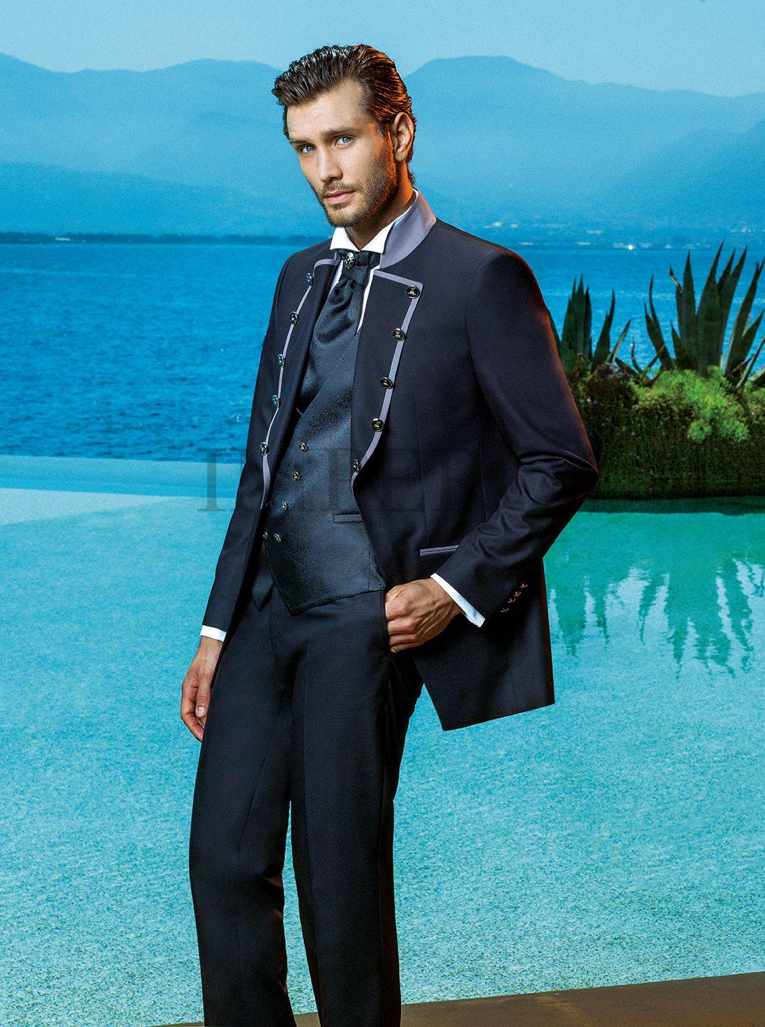BA 50082-17 #sposo #groom #suit #abito #wedding #matrimonio #nozze #nero #black #gray #grigio