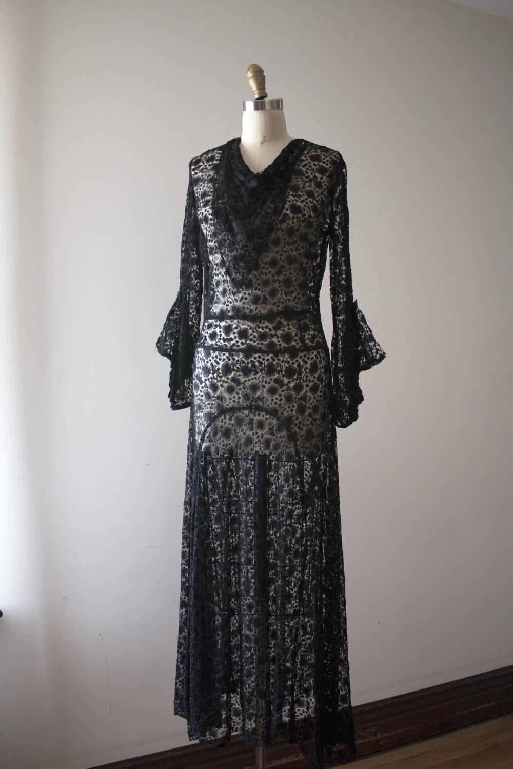 Vintage 1930s Black Lace Dress Trunk Of Dresses Black Lace Cocktail Dress Cocktail Dress Lace Black Lace Dress [ 1499 x 1000 Pixel ]