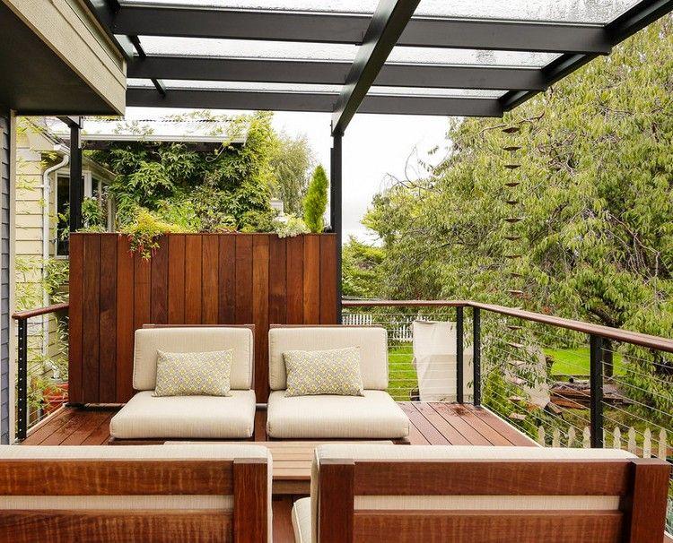 Balkon Sichtschutz Holz Modern Windschutz Feng Shui Gestaltung