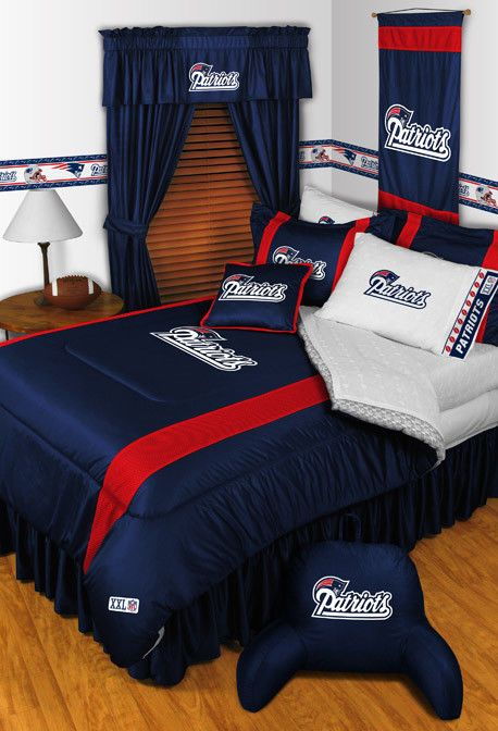 New England Patriots Nfl Sidelines Comforter Full Queen Sportscoverage Newenglandpatriots