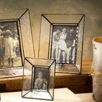 J. Devlin PIc 224 Series Glass Photo Frames - Slant Sides Clear Seedy