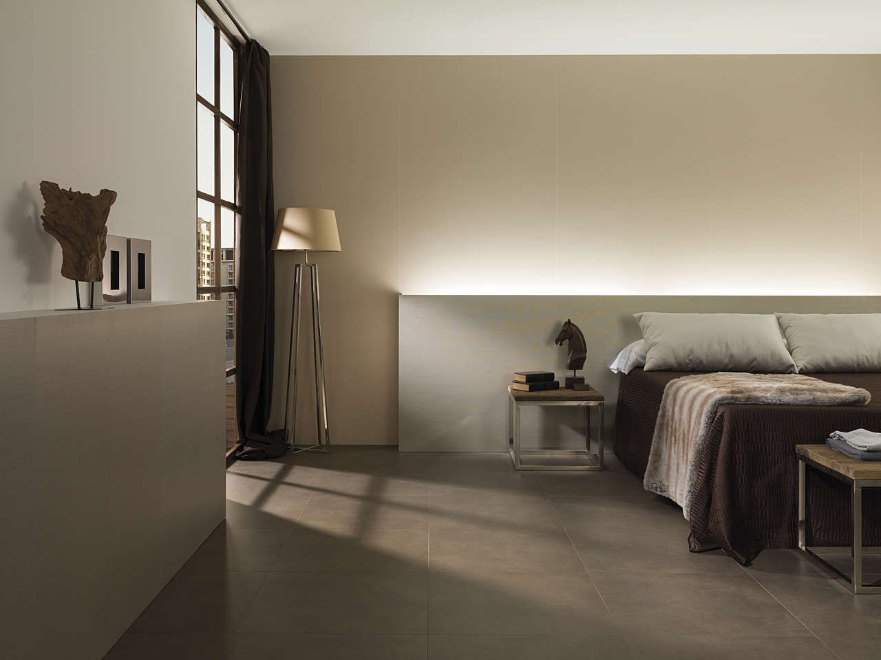 light porcelain this new porcelain tile by urbatek is characterised by its extra large - Porcelain Tile Bedroom Interior