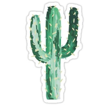 Cactus Sticker By Efara1 Cactus Stickers Watercolor Stickers Green Sticker