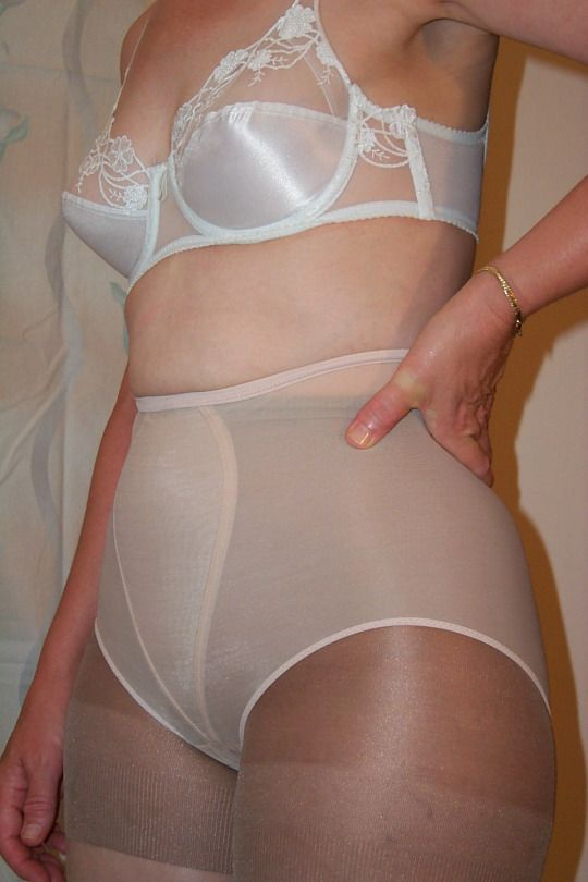 Something also panty girdle over pantyhose