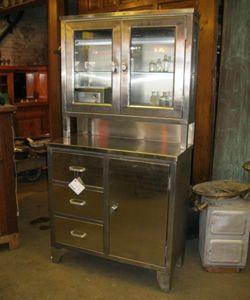 Antique steel medical cabinet (With images) | Medical ...