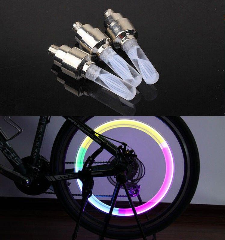 7a4e8f988 1 pz luci della bici mtb mountain road bike bicicletta luci LED Tyre Tappi  Valvola del pneumatico raggi della Ruota Luce LED auto lampada lampade  BL0133