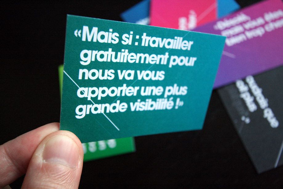 la s u00e9rie de cartes de visite  u00e0 message du concepteur