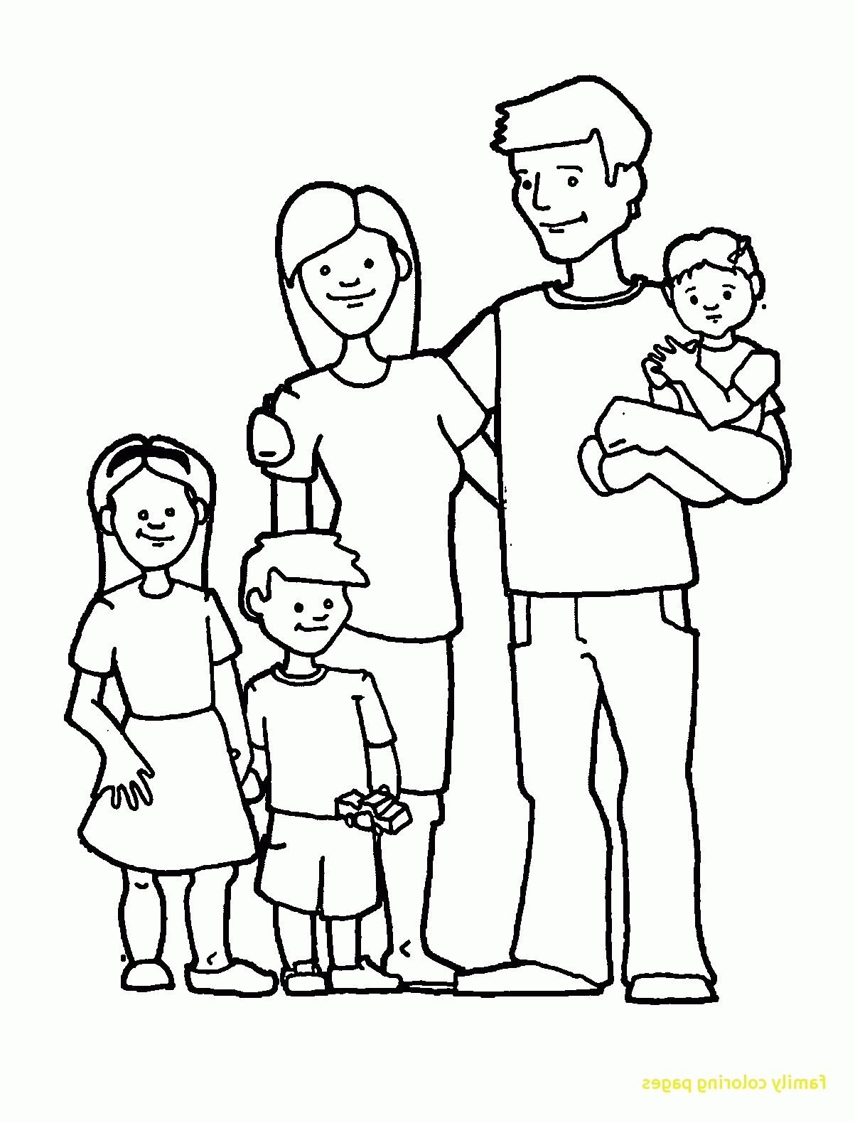 Coloring Family Worksheet For Preschool
